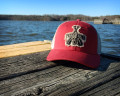 Paddle Dog Trucker Hat in Crimson