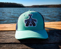 Paddle Dog Trucker Hat in Seafoam