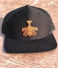 PH Black hound leather patch